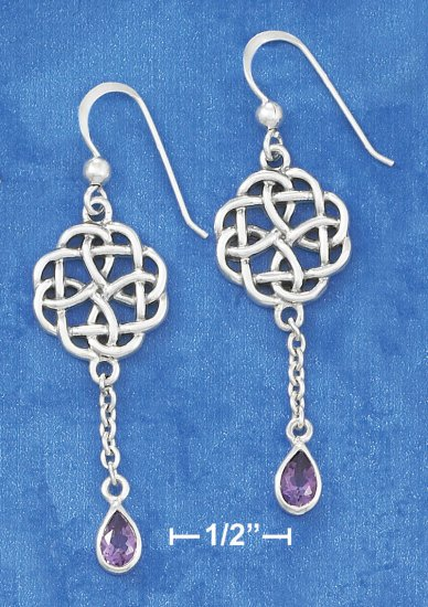 STERLING SILVER CELTIC ROUND STAR EARRINGS