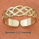 STERLING SILVER VERMEIL CELTIC OPEN WEAVE TOE RING
