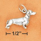 STERLING SILVER 3D ANTIQUED DACHSHUND CHARM