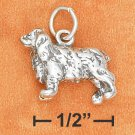 STERLING SILVER 3D ANTIQUED COCKER SPANIEL CHARM
