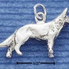 STERLING SILVER 3D GERMAN SHEPHERD CHARM