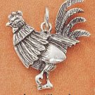 STERLING SILVER ANTIQUED ROOSTER CHARM