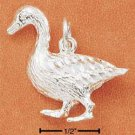 STERLING SILVER DIAMOND CUT DUCK CHARM