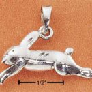 STERLING SILVER DIAMOND CUT BUNNY IN FLIGHT CHARM