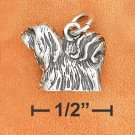 STERLING SILVER 3D ANTIQUED LHASA APSO CHARM
