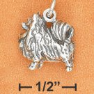 STERLING SILVER 3D ANTIQUED POMERANIAN CHARM