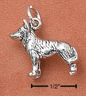 STERLING SILVER 3-D SIBERIAN HUSKY CHARM