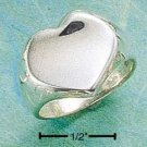 STERLING SILVER HP CONCAVE HEART RING