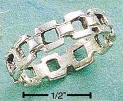STERLING SILVER SQUARE LINK BAND