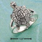 STERLING SILVER TURTLE POISON RING