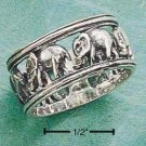 STERLING SILVER ELEPHANT BAND W/ OPEN SPACES
