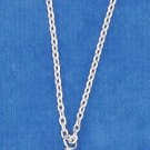 "STERLING SILVER 15""-18"" HP ADJ. CABLE NECKLACE WITH STAR & PINK CRYSTALS"