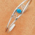 STERLING SILVER TURQUOISE OPEN WIRE CUFF / S DESIGN
