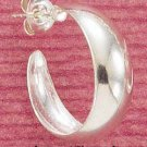 STERLING SILVER 22MM HIGH POLISH 3/4 LOOP POST EARRINGS