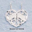 STERLING SILVER  TWO PIECE MOTHER/DAUGHTER HEART CHARM