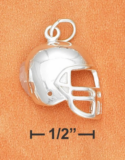 STERLING SILVER HP SIDE VIEW FOOTBALL HELMET CHARM