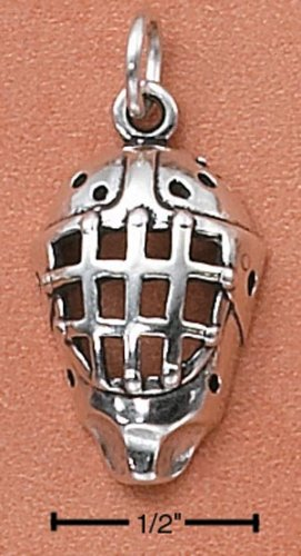 STERLING SILVER GOALIE MASK CHARM