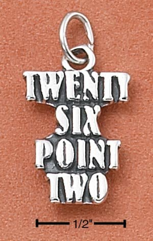 "SILVER ""TWENTY SIX POINT TWO"" MARATHON CHARM"