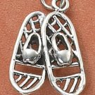 STERLING SILVER SNOWSHOES CHARM