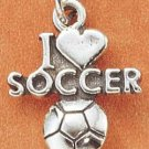 "STERLING SILVER ""I LOVE SOCCER"" CHARM"