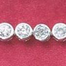"STERLING SILVER 7"" 3MM   BEZEL SET CZ TENNIS BRACELET"