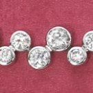 "STERLING SILVER 7""  CLEAR CZ BUBBLES BRACELET"
