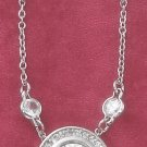 "STERLING SILVER 16""   10MM ROUND FANCY CZ NECKLACE"