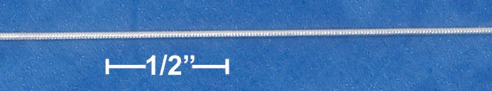 STERLING SILVER 025 SNAKE CHAIN (1MM)  16 INCH