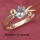 STERLING SILVER VERMEIL GENUINE BLUE TOPAZ RING