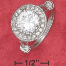 STERLING SILVER   2.75CT RND CZ RING IN RND PAVE/FILIGREE SETTING