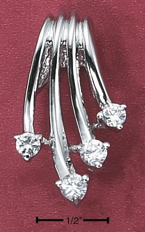 STERLING SILVER HP WATERFALL CZ SLIDE PENDANT