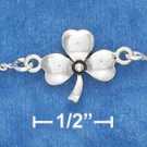 "STERLING SILVER 7""  SHAMROCK BRACELET WITH SPRING RING CLASP"