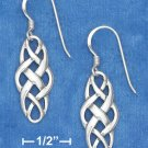 STERLING SILVER CELTIC WEAVE FRENCH WIRE EARRINGS