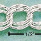 "STERLING SILVER 7"" DOUBLE BEVELED LINK BRACELET (~7MM)"