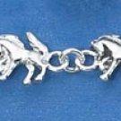 STERLING SILVER MINI HORSE LINK BRACELET