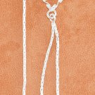 STERLING SILVER TWIST WIRE OPEN HRT W/ DC HRT DANGLES EAR THREADS (
