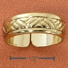 STERLING SILVER VERMEIL HATCHED DESIGN TOE RING