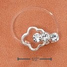 STERLING SILVER JELLYWIRE CLOUD W/ 3 CRYSTALS TOE RING