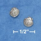 STERLING SILVER SHELL POST EARRINGS