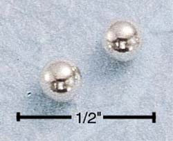 STERLING SILVER 4MM BALL POST EARRINGS