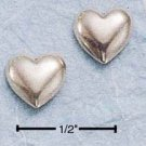 STERLING SILVER HP HEART POST EARRINGS