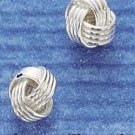 STERLING SILVER 5MM KNOT POST EARRINGS