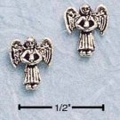STERLING SILVER MINI GUARDIAN ANGEL POST EARRINGS