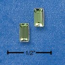 STERLING SILVER EMERALD CUT AUGUST BIRTHSTONE AUSTRIAN CRYSTAL POST EARRINGS