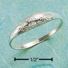DARLING STERLING SILVER ENGRAVED SMALL DOME RING.