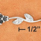"STERLING SILVER 7.25"" GENUINE SAPPHIRE CLUSTER & DIAMOND BRACELET"