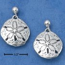 STERLING SILVER SANDDOLLAR POST DANGLE EARRINGS