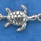 "STERLING SILVER 7"" TINY TURTLES BRACELET"