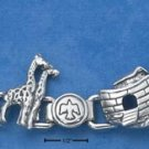 "STERLING SILVER 7"" NOAH'S ARK WITH PEACE DOVES LINK BRACELET"