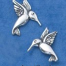 STERLING SILVER MEDIUM HUMMINGBIRD POST EARRINGS